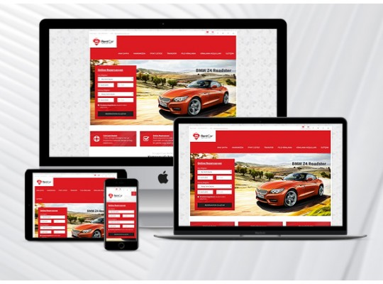 Hazır Rent A Car Sitesi Red